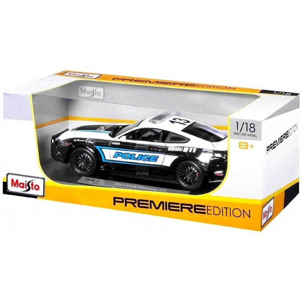 Maisto Premiere Edition Ford Mustang GT Police ESCALA 1:18